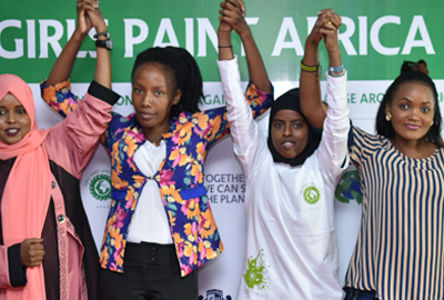 Girls Paint Africa Green Project in Partnership with Cavendish University Uganda