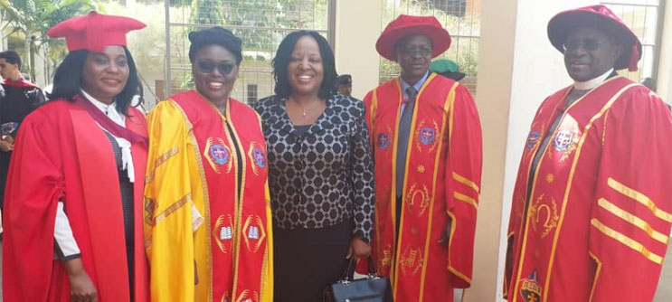 CUU Deputy Vice Chancellor attends the 2019 Graduation Ceremony at UCU, Mukono