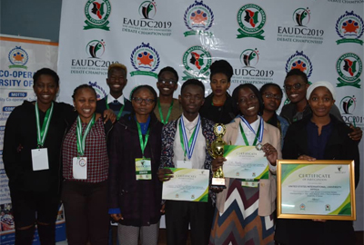 Cavendish University Uganda triumphs in the 4th East African Universities Debate Championship 2019