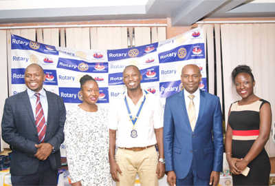 CUU Vice Chancellor presents at the Kampala Metropolitan Rotary Club